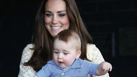 Prince George with his mother the Duchess of Cambridge. Picture: Chirs Jackson/PAWire