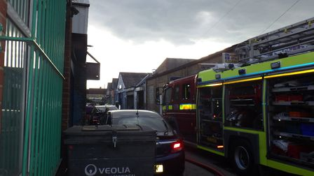21 firefighters worked on the blaze in Wembley Picture: Twitter @LondonFire