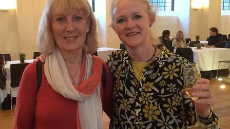 Outgoing Angel Canal Festival organisers Beryl Windsor and Sasha Mears. Picture: Beryl Windsor