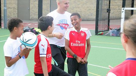 Youngsters were all smiles at the FC Gio camp in north London (pic Fiston Manuella Photography)