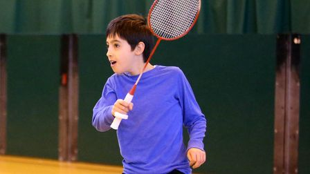 A file image of nine-year-old Isaac Barnes playing Badminton at the Sobell Leisure Centre last year.