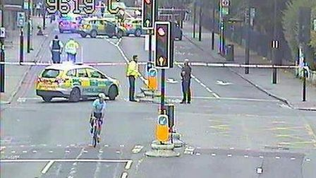 Camden Road is shut near the junction with Brecknock Road. Picture: @TfLTrafficNews