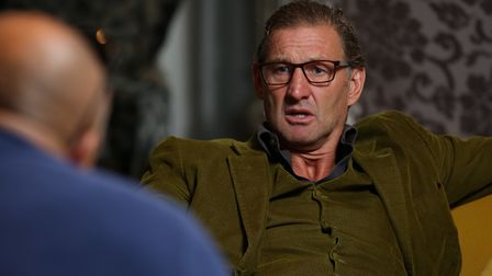Archant's Layth Yousif speaks to former Arsenal and England defender Tony Adams (pic Danny Loo)