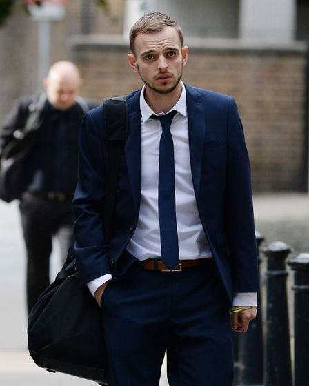 Sebastian Clark-Darby arrives at Blackfriars Crown Court in October last year. He was jailed for sen