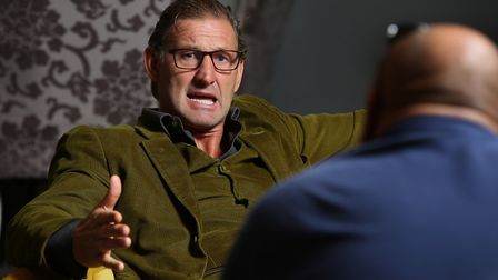 Archant's Layth Yousif speaks to former Arsenal and England defender Tony Adams. Picture: Danny Loo