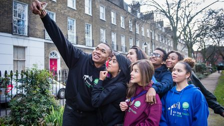 Islington Youth Mayor Diana Gomez (in the purple sweatshirt) is encouraging young people to run for