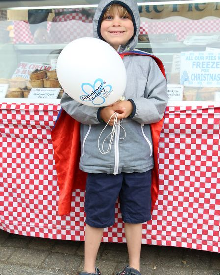 Finn Bates, 5, dressed as Superman at Angel Canal Festival. Picture: Catherine Davison