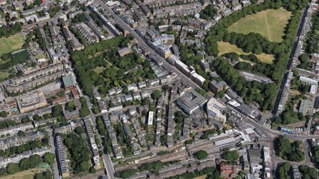 An aerial view of Highbury and Holloway. The price of housing, per square metre, increased by 90 per