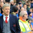 Arsenal manager Arsene Wenger during the Premier League match at the Goodison Park, Liverpool.