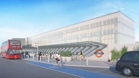 A visualisation of how Old Oak Common station could look (Picture: TfL)