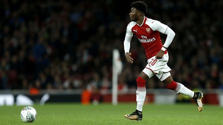 Arsenal's Ainsley Maitland-Niles during the Carabao Cup, Fourth Round match at the Emirates Stadium.