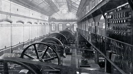 The engine room at Islington's electricity centre, in Eden Grove. Picture: Islington Local History C