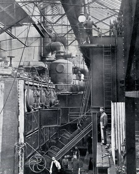 The boiler house at Islington's electricity centre, in Eden Grove. Picture: Islington Local History
