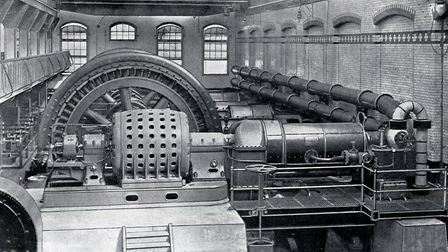 The right-hand side of the engine room at Islington's electricity centre, in Eden Grove. Picture: Is