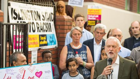 Jeremy Corbyn, pictured in June at a vigil for the Finsbury Park terror attack, will tonight sign a