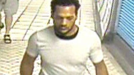 Police want to speak to this man in connection with the William Hill armed robbery in Upper Street i