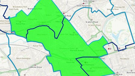 The proposed boundaries of the new Kilburn constituency take also take in part of Brent Central, and