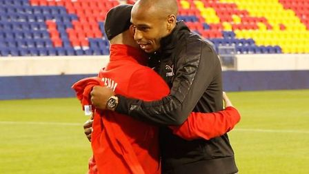 Kurtis Powers with Thierry Henry