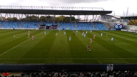 Manchester City and Arsenal met in the WSL (pic Joshua Bunting)