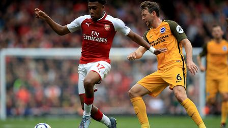 Lagos-born Alex Iwobi scored during the 'Arsenal For All' diversity day against Brighton at the Emir