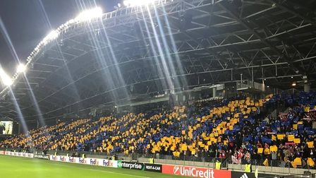 The Borisov fans put on a colurful display in Belarus