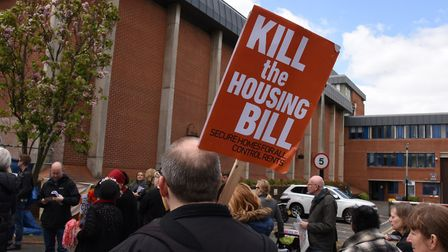 Protestors marched on Holloway Prison last year to demand the prison site is replaced by council hou