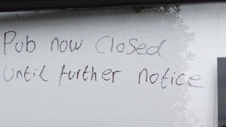The note that appeared in The Lord Palmerston's window. Picture: Cllr Oliver Lewis
