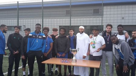 The Muslim Welfare House were the runner-up team in the Peace Cup. Picture: Roz Miller