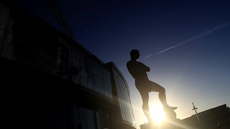 The Bobby Moore statue outside Wembley Stadium. Adam Davy/PA Wire