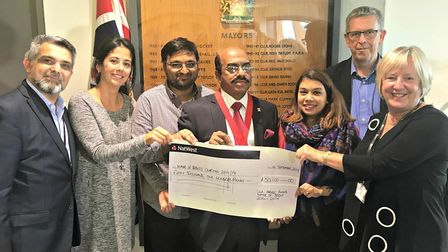 Former mayor of Brent Cllr Parvez Ahmed raised more than £50,000 to be shared between three local ch