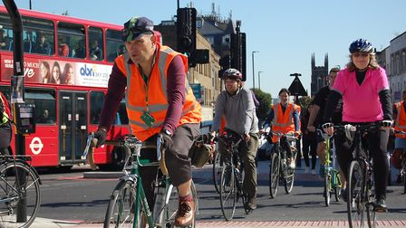 Cyclists enjoy car-free day in Archway. Picture: Islington Council