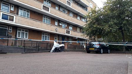 Police tape outside Bronte House in Newington Green on September 29. Picture: Ramzy Alwakeel