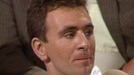 Laurence Penn in the audience of the Belgian TV show, 1990.