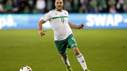 Conor Washington in action for Northern Ireland against Norway (pic: Martin Rickett/PA)