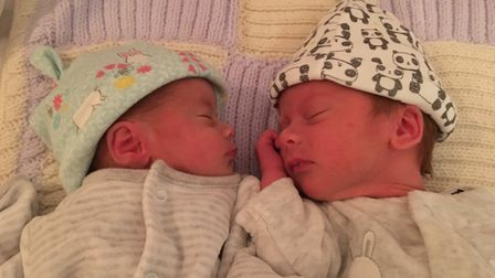 James Shaw and his twin sister Isabel. Picture: Emily and Pete Shaw