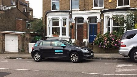 After being parked outside her home for four weeks the car was then moved over the road and took up