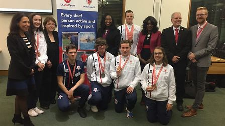 Dawn Butler MP hosted the Deaflympics GB Team at the Houses of Parliament