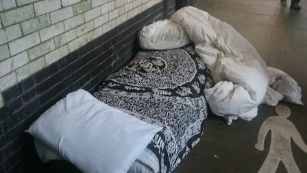 Possessions under the Stroud Green Road bridge. Picture: Loretta Thomas
