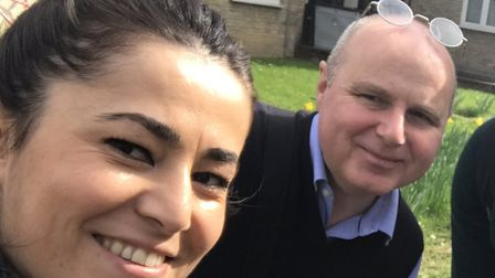 Aysegul Erdogan with her fellow Labour councillor in Highbury East Osh Gantly.