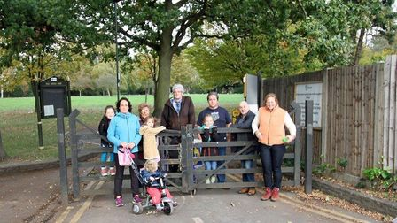Members of the Roe Green Residents Association wish the gates to Roe Green Park remain closed (Pict