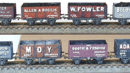 Some of Bill Blackburn's model trains. Picture: Timothy Watson