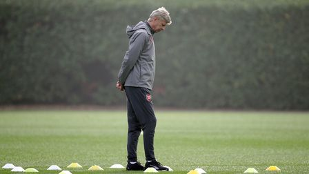 Arsenal manager Arsene Wenger during a training session at London Colney (pic Yui Mok/PA)