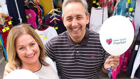 Keeley Maskell, left, and Jeffrey Heller help launch Islington's search for its market trader of the