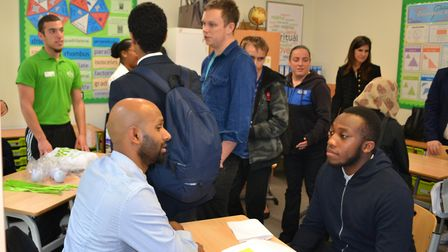 The Courtyard School in Islington held its first annual careers event to show special needs teenager