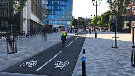 Cyclists have complained about 'weak' cycling changes in Archway. Picture: TfL