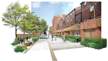 A proposed garage conversion, as seen from Newington Barrow Way. Picture: Studio Partington
