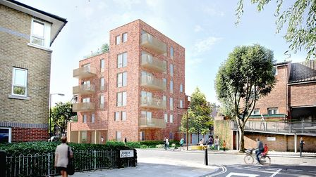 How the new blocks will look in Durham Road, from Lennox Road. Picture: Studio Partington
