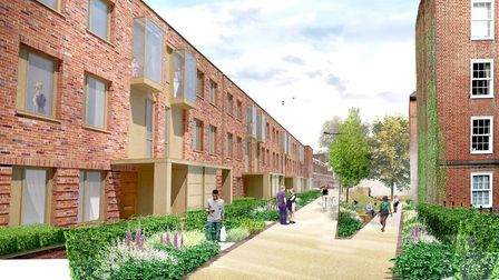 An artist's impression of one of the new blocks. Picture: Studio Partington