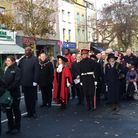 Islington's 2017 Remembrance parade in Upper Street. Picture: Rhiannon Long