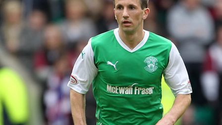 Former Queens Park Rangers midfielder Liam Miller, seen here in action for Hibernian (pic: Lynne Cam
